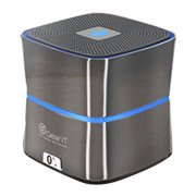 GearIt Bluetooth Wireless Speaker Mini Portable with Hands Free Mic, Silver