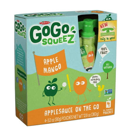Gogo Squeez Applesauce On The Go   Apple Mango  3 2 Ounce