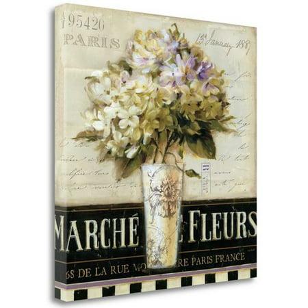 6670 De Art (Tangletown Fine Art 'Marche de Fleurs' Graphic Art Print on Wrapped Canvas )