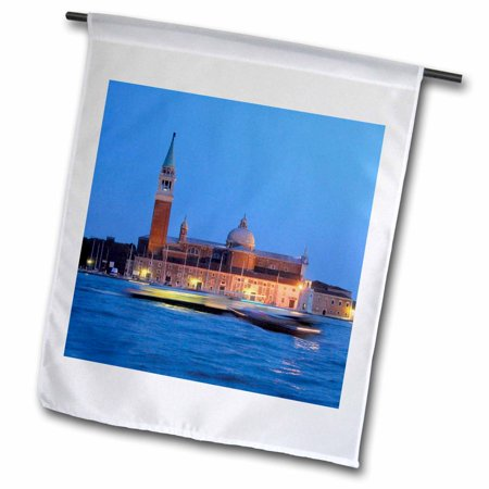 Image of 3dRose Italy, Venice. Water taxis at night - EU16 CMI0613 - Cindy Miller Hopkins - Garden Flag, 12 by 18-inch