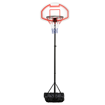 SmileMart Portable Height Adjustable Basketball Hoop System with Wheels only $50.99