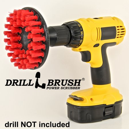 Chemical Guys ACC_201_BRUSH_HD Heavy Duty Carpet Brush with Drill Attachment, Red ()