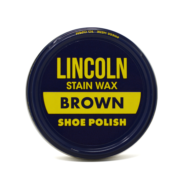 lincoln stain wax shoe polish 2 1 8 oz brown walmart com