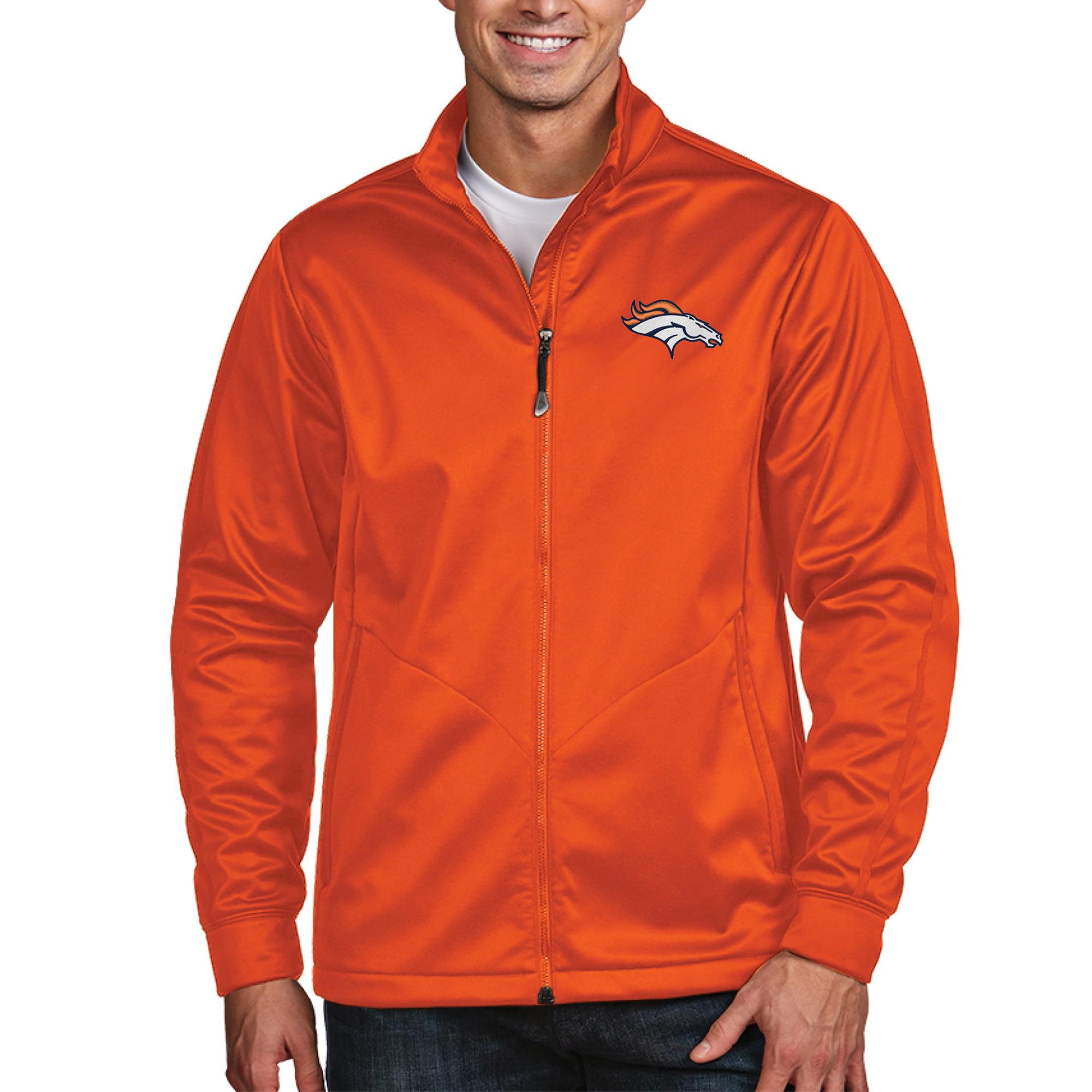 Denver Broncos Antigua Full-Zip Golf Jacket - Orange