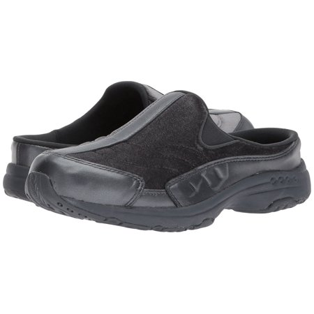 Easy Spirit TRAVEL TIME Womens Leather Slip On Clogs (7 US, Wide)