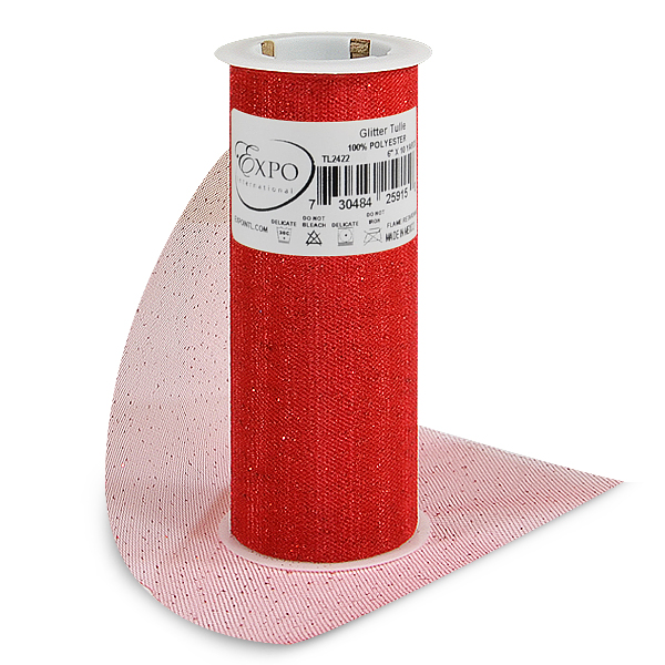 """Expo Int'l Glitter Tulle Spool 6"""" x 10 Yards"""