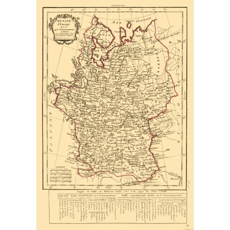 Delamarche Map (Russia in Europe - Delamarche 1800 - 23 x 33.58)