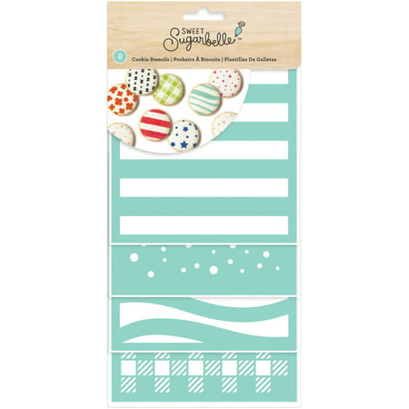 American Crafts Sweet Sugarbelle Decorating Stencil 8/Pkg-Patterns