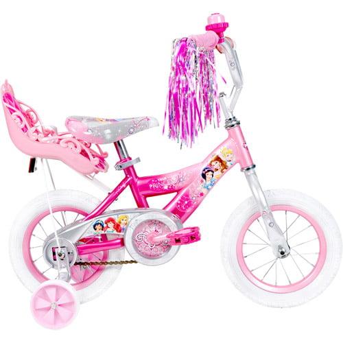 Little Girls Pink Bike Kids Bicycle Disney Princess 12 Single Speed