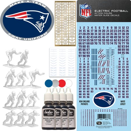 - New England Patriots NFL Away Uniform Make-A-Team Kit for Electric Football