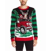 Ugly Christmas Sweater Mens Small Light-Up Crewneck Sweater