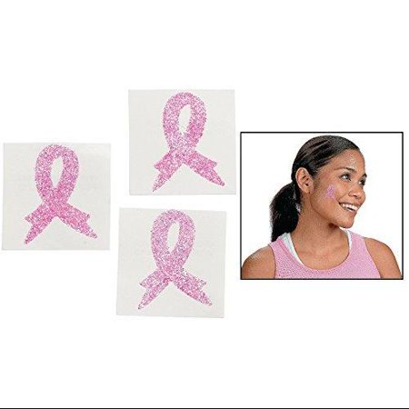 breast cancer awareness body tattoo stickers 12 pack 1 1