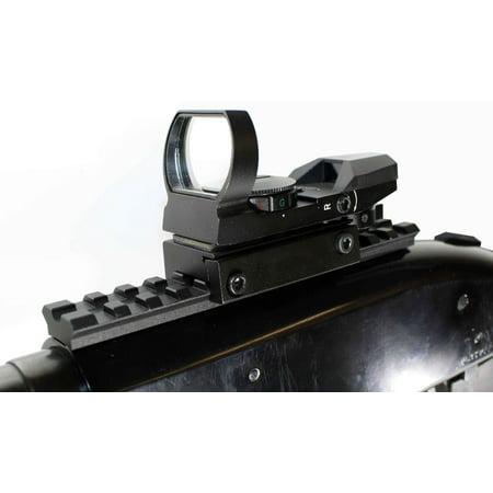 Mossberg 590 Red Green Dot Reflex Sight Scope & Rail Mount Package Black, single rail mount