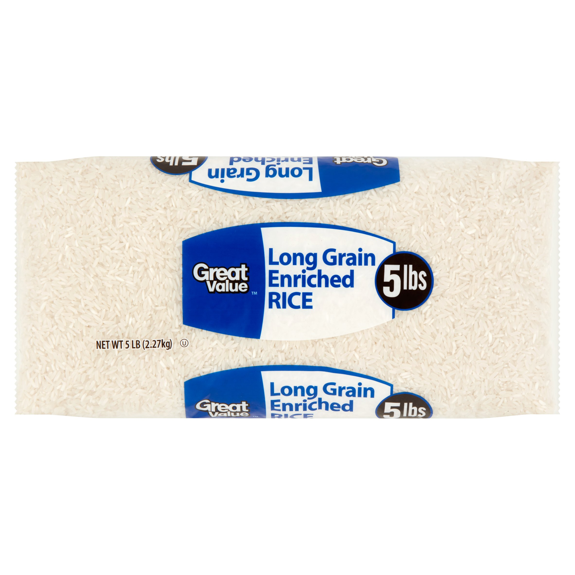 Great Value Long Grain Enriched Rice, 5 Lb
