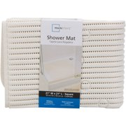 "Mainstays 21"" x 21"" White Cushioned Shower Mat, 1 Each"