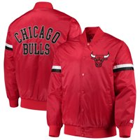 Chicago Bulls Starter The Champ Varsity Satin Jacket - Red