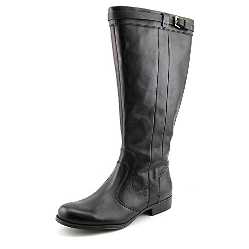 Naturalizer Womens Josephine Leather Wide Calf Riding Boots