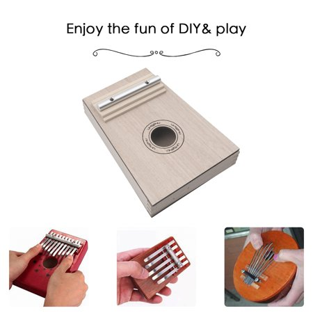 Simple Assembly 10 Keys Kalimba Handwork DIY Kit Basswood Finger Thumb Piano for Children Kids Musical Instrument - image 5 of 7