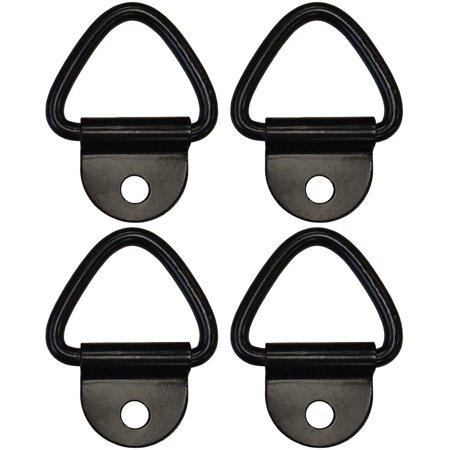 "(4) 1/4"" Steel D Ring Truck Trailer Motorcycle ATV Rope Chain Tie Down 2,400#"