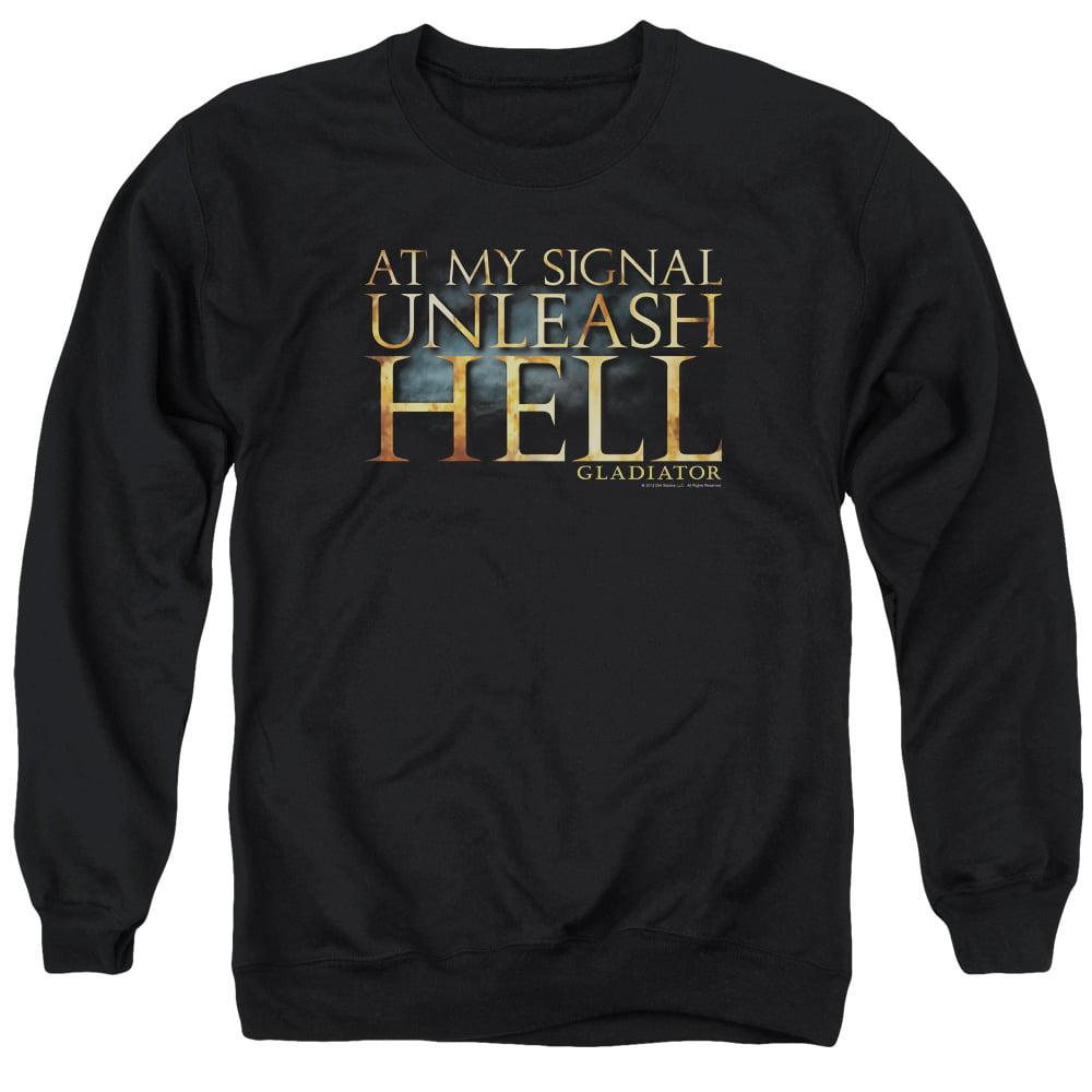 Gladiator Historical Drama Ancient Rome Movie Unleash Hell Adult Crew Sweatshirt