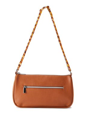 No Boundaries Faux Leather Baguette Bag