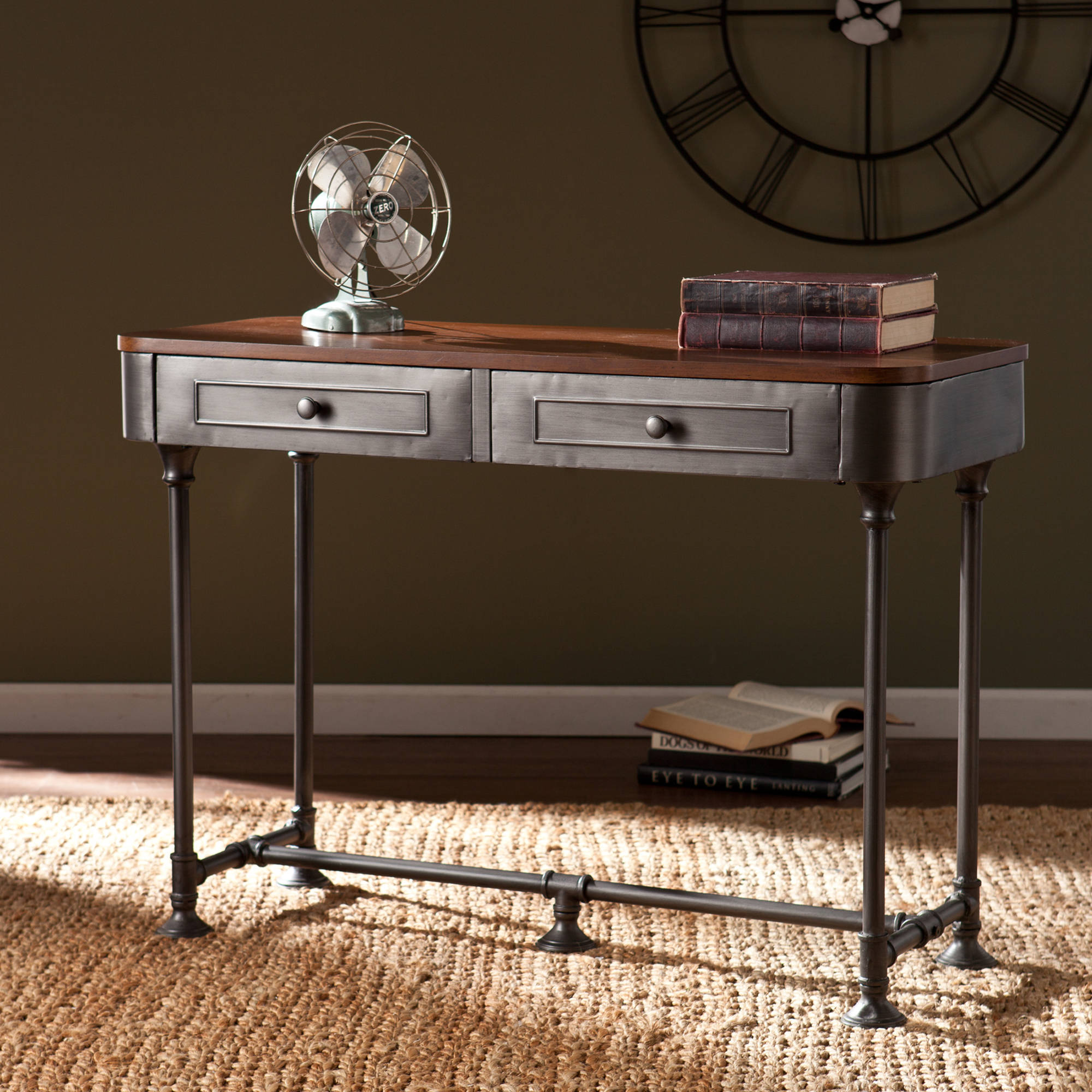 Kennendale Industrial Console Table Walmart
