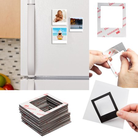 Refrigerator Magnet Set - Polaroid (24 Piece) Magnetic Picture Frame Refrigerator Magnets Magnet Picture Frames For Fridge Set