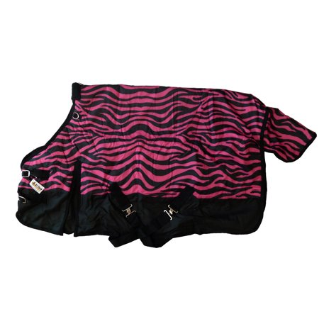 - Pony Horse Blanket Rip Stop 600D Water Proof 300G Medium Weight Pink Zebra Print
