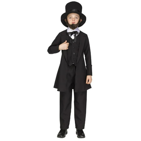 Abraham Lincoln Kids Costume (Kids Abe Lincoln Costume)
