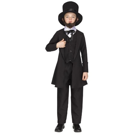 Kids Abe Lincoln Costume - Abe Lincoln Children
