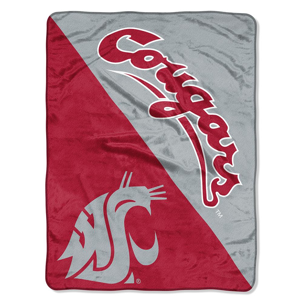 "Washington State Cougars NCAA Micro Raschel Blanket (Two Tone Series) (48""x60"")"