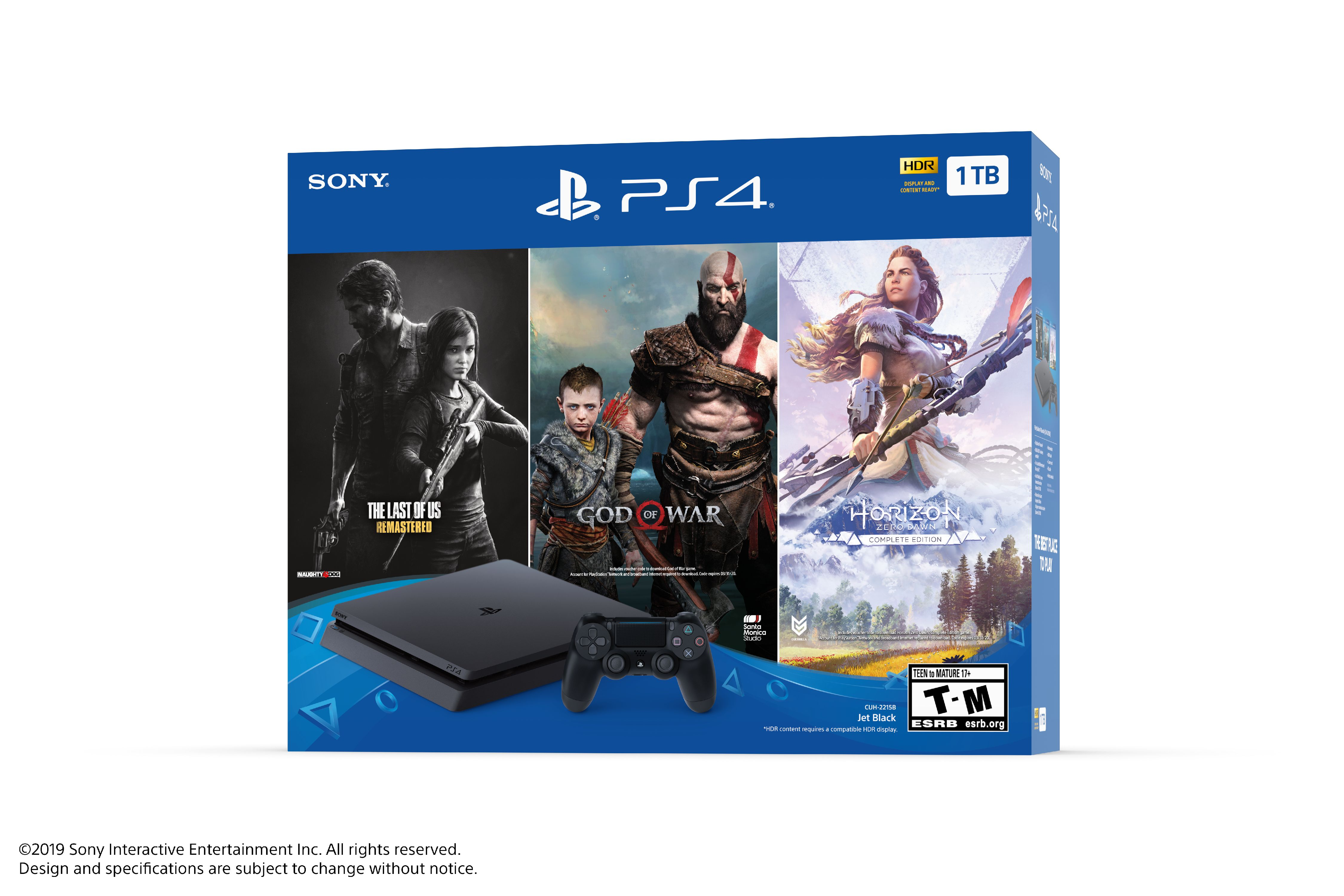 Sony Playstation Slim 4 1tb Only On Playstation Ps4 Console Bundle