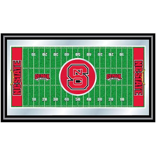 North Carolina State Football Field Framed Mirror