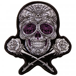 "Iron On Patches - Scratch Skull Embroidered Artwork, Sew On Patch, 3"" x 4"""
