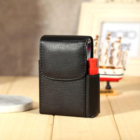 Cigarette Case PU Leather Tobacco Pouch Lighter Holder Name Card Storage Container New,  Cigarette Storage Case,Cigarette Case Leather Cigar Box