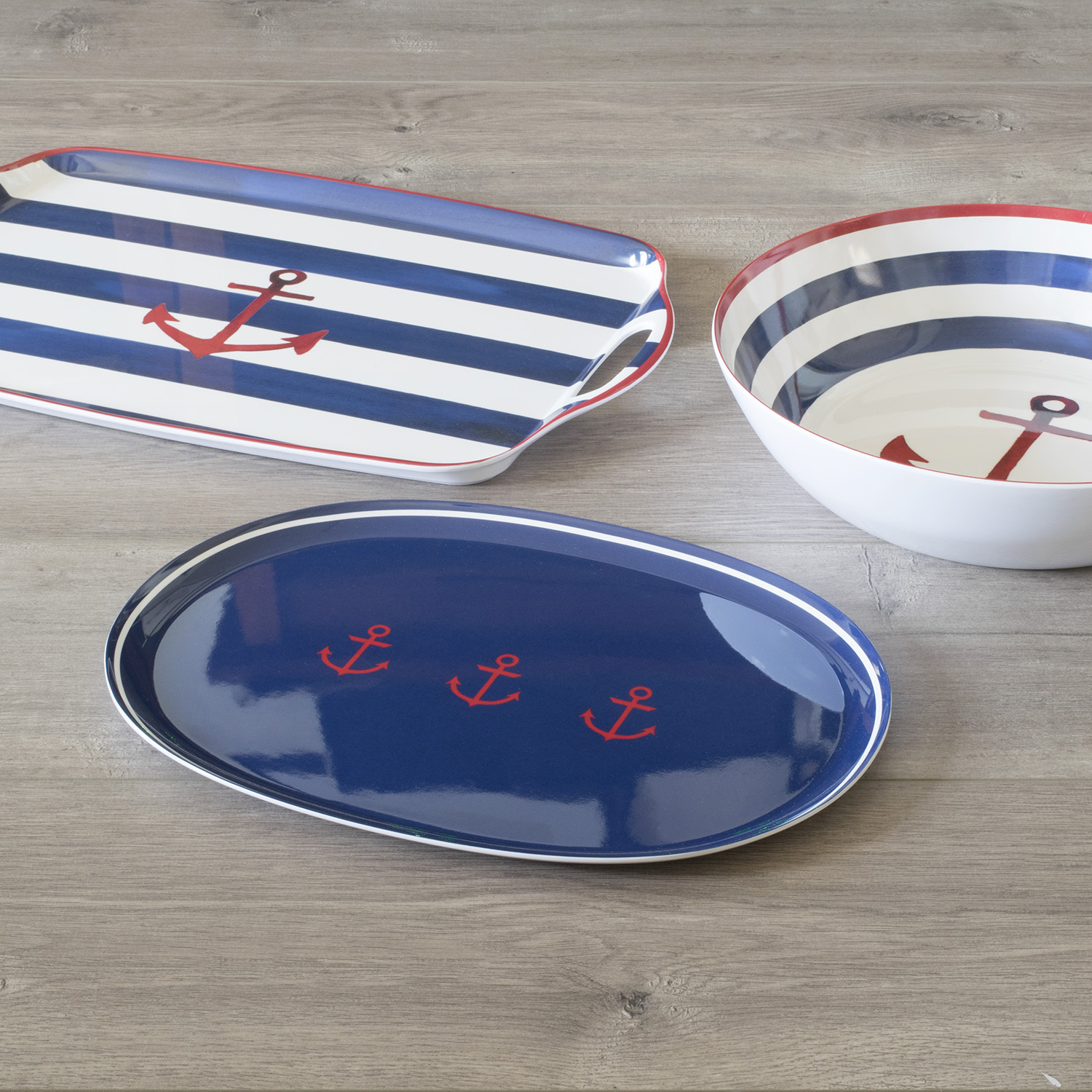 Mainstays Nautical 3-Piece Serving Set