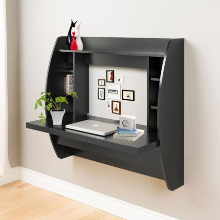 Ktaxon Wall Mount Computer Desk Floating Storage Shelves Laptop Office Computer Desk