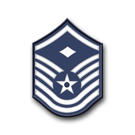 5.5 Inch Air Force Master Sergeant Vinyl Transfer Decal
