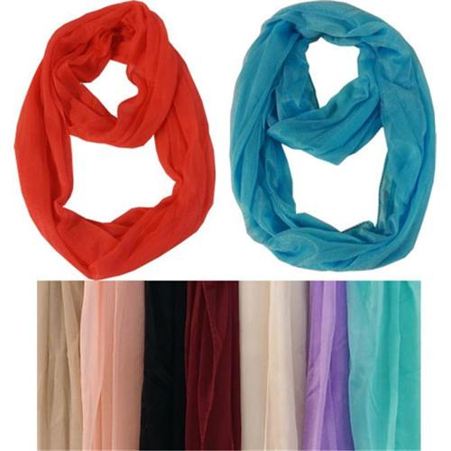 Light Weight Infinity Scarves Solid Bright Case Of 60