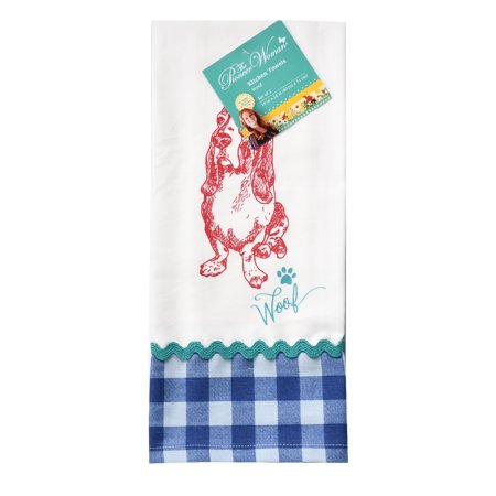 The Pioneer Woman Blue Charlie Kitchen Towel, 2 Count