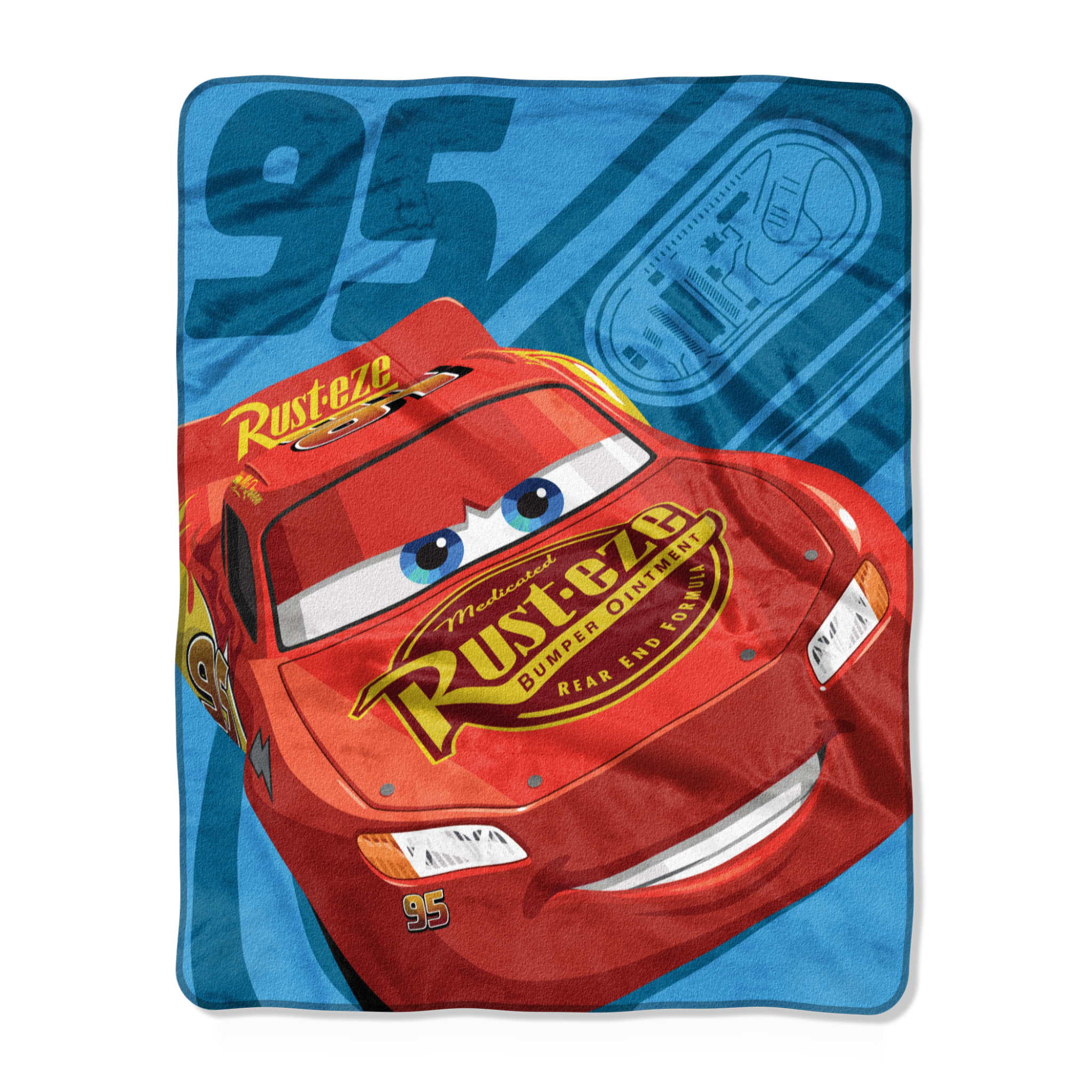 "Disney Cars Ride the Circuit 40"" x 50"" Silk Touch Throw Blanket, 1 Each"