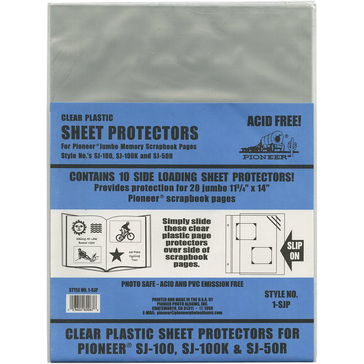 Pioneer Scrapbook Sheet Protectors Pack Of 10 Walmart