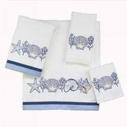 Avanti  Nassau White Embellished 4-piece Towel Set