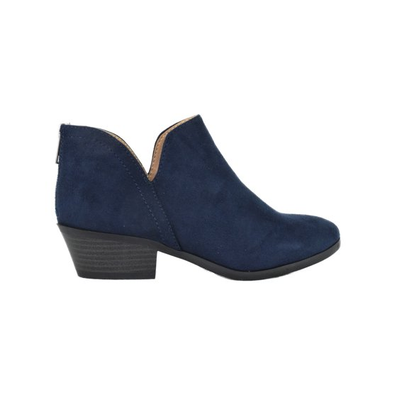 2cb7f107eae9f Soda - Mafic Navy Blue Suede Booties Soda Women Ankle Boots Small ...