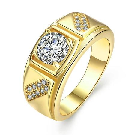 Aventura Jewellery Gold Plated Split Shank Promise Ring Size (Aventura Promise)