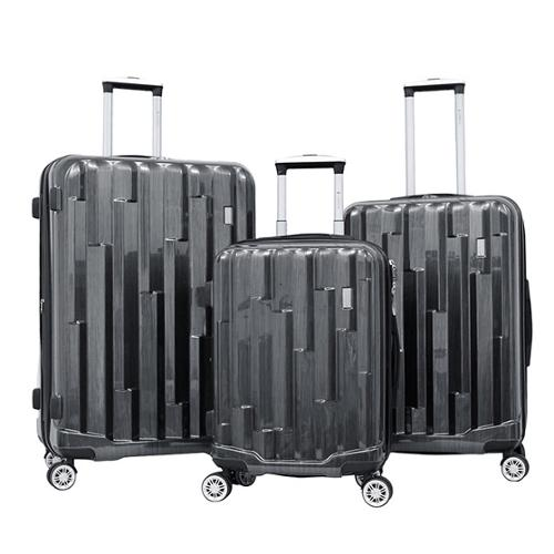 Gabbiano Abstract 3-piece Expandable Hardside Spinner Luggage Set Dark Grey