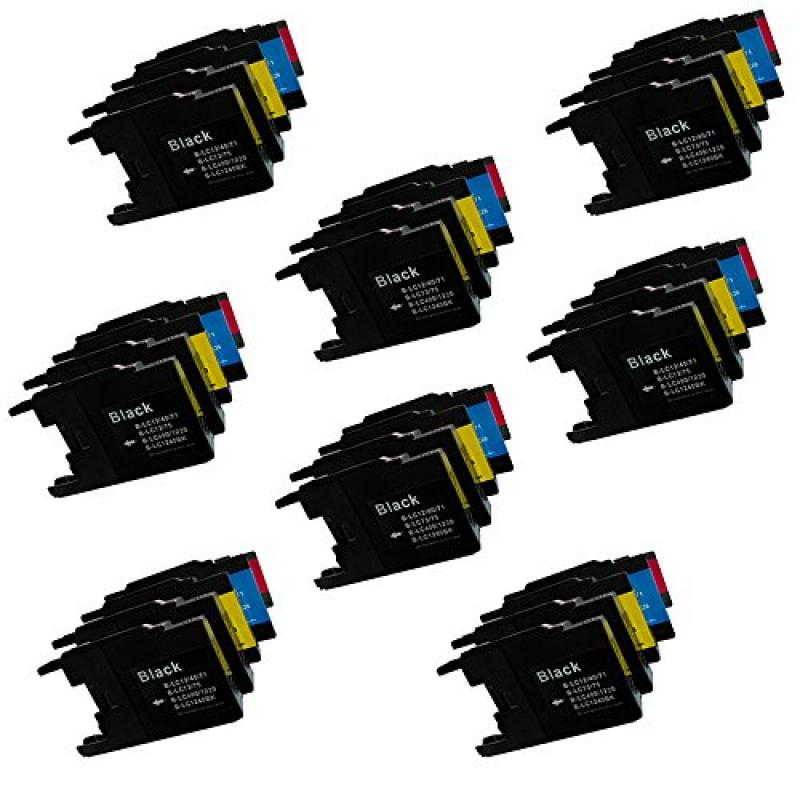 HOTCOLOR 40 PK NEW Combo Ink Cartridges Set for LC75 XL B...