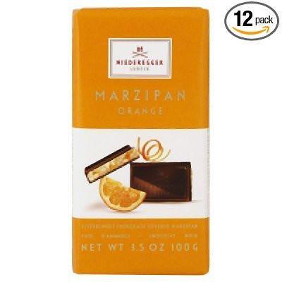 Niederegger Marzipan Orange Chocolate Bar 100g (12-pack)