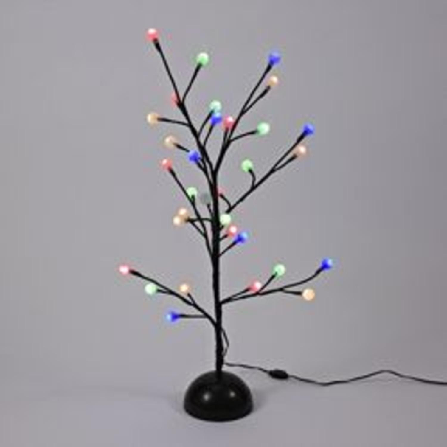 2' LED Pre-Lit Brown Gumball Artificial Christmas Twig ...