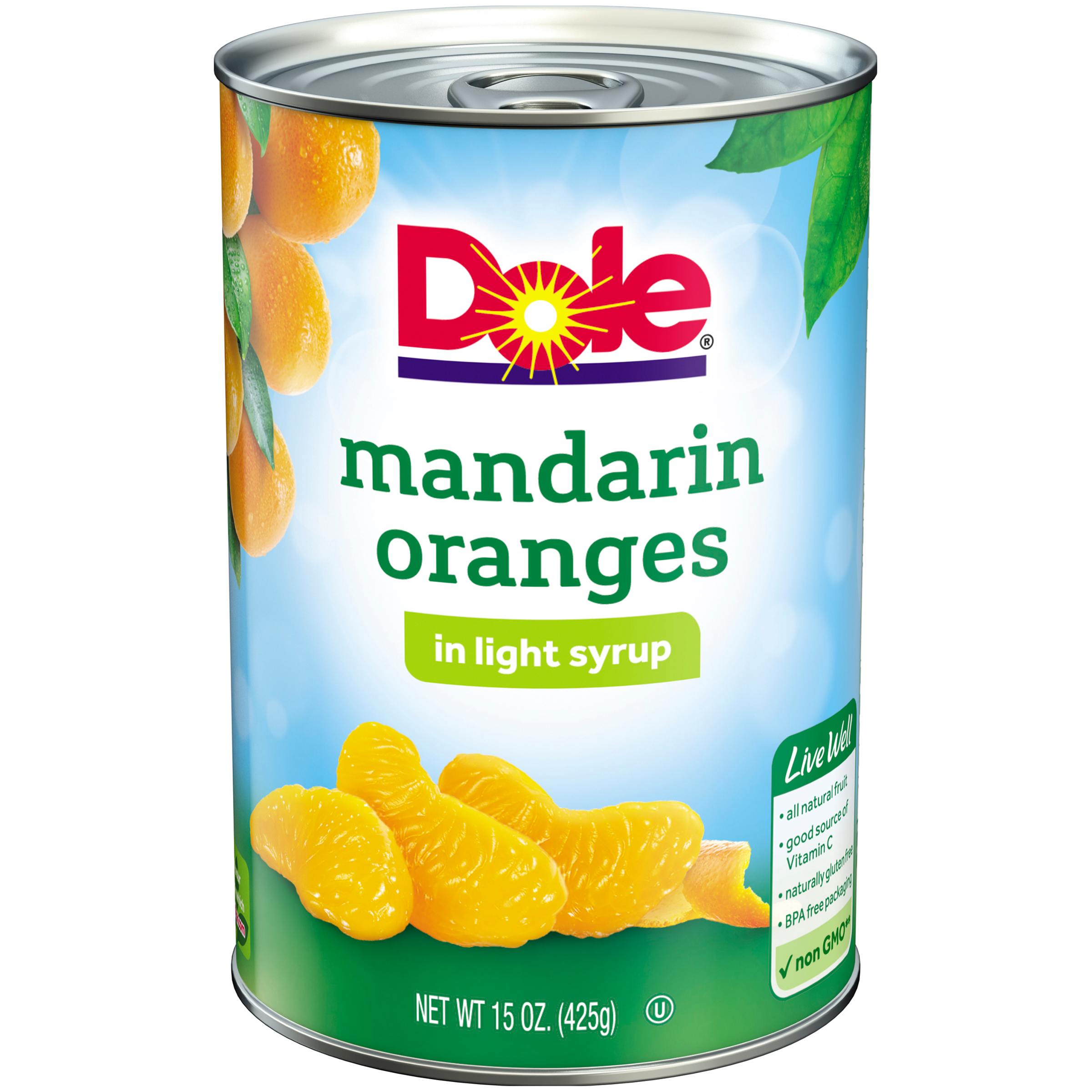 DOLE® Mandarin Oranges in Light Syrup 15 oz. Can